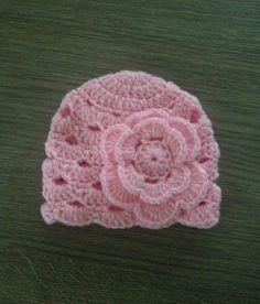 Fashion babymuts roze met bloem