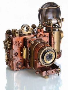 Steampunk camera...cool piece to have sitting on display!