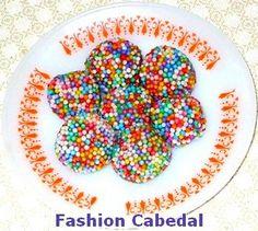 Fashion Cabedal: Receita: brigadeiro confeitos coloridos