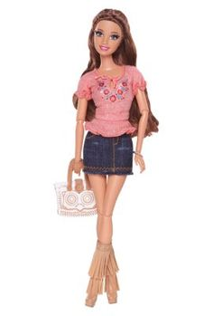 Boho chic goes breezy beautiful in this fun outfit inspired by the hit Barbie web series. Barbie Life in the Dreamhouse Teresa Doll. Barbie Life, Barbie Dream House, Barbie Fashionista, Mattel Barbie, Doll Clothes Barbie, Barbie Collector, Barbie Friends, Fashion Dolls, Ideias Fashion