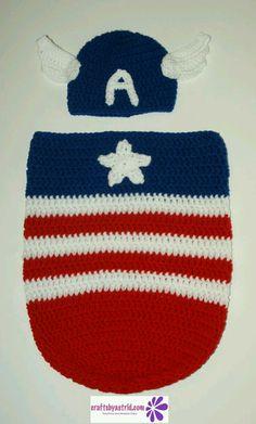 Capitan america crochet