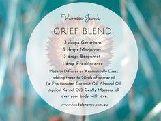 Grief - geranium, marjoram, bergamot and frankincense