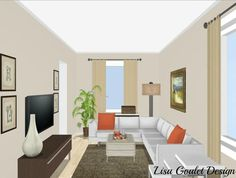 Long living room layout how to furnish and love a long narrow living. Rectangular Living Rooms, Narrow Living Room, My Living Room, Living Room Decor, Narrow Family Room, Long Narrow Rooms, Living Room Furniture Layout, Living Room Interior, Living Room Designs