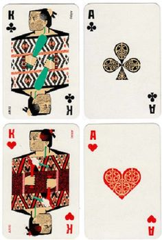 Maori playing cards from New Zealand