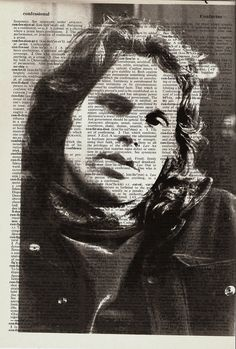 Jim Morrison The Doors Print on Vintage by NumberEleven on Etsy, $9.99
