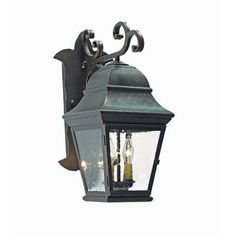 2nd Ave Design Hagen 2 Light Outdoor Wall Lantern Finish: