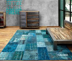 ALFOMBRA PATCHWORK 14RE TURCHESE