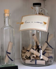 Gone Coastal- CHX BCH style: Message in a Bottle Guest Book :)