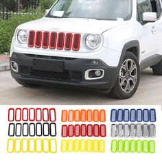 Us 25 66 31 Off Aliexpress Mopai Abs Car Exterior Insert Trim Front Grille Cover Decoration Stickers For Jeep Renegade 2017 2016 Styling