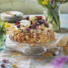 Påsktårta med vit choklad och mascarpone – recept