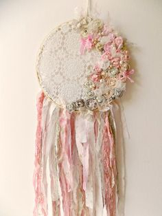 Baby Girl Nursery Dream Catcher Rustic Woodland by ProvencalMarket