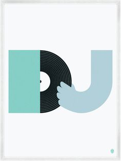 """DJ"" from Beats And Music Prints by My Little Underground"