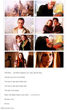 "When Buffy Summers saved the world. Made ""Buffy"" Fans so hard cry! Spike Buffy, Buffy The Vampire Slayer, Buffy Im Bann Der Dämonen, Buffy Summers, Sarah Michelle Gellar, Joss Whedon, Alyson Hannigan, True Blood, First Girl"
