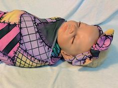 Nightmare Before Baby Rag Doll Scrap Baby Swaddle Blanket w/