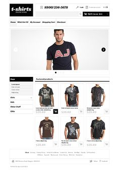 OpenCart Template for T-Shirts Website Fashion Website Design, Responsive Web, Web Design Inspiration, Website Template, Cool T Shirts, Your Design, Templates, Open Source, Coffee Break