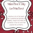 Your students can play Contraction Memory with these Valentine's Day contraction cards, as well as record their matches when they are done....