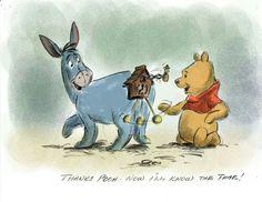 Old sketching of Winnie the Pooh & Eeyore (courtesy of Disney) Eeyore Quotes, Winnie The Pooh Quotes, Winnie The Pooh Friends, Disney Winnie The Pooh, Baby Disney, Disney Dream, Disney Magic, Disney Art, Disney Pixar