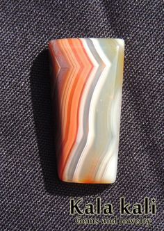 strikingly beautiful Botswana Agate Cabochon SQUARE