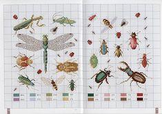 free cross stitch designs insects - Google-søk