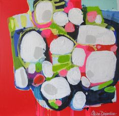 """""""Little Lamb"""" by Claire Desjardins - 36""""x36"""" - Acrylics on canvas."""