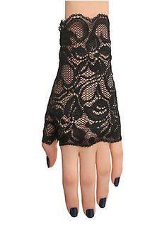 Lace. Love. // Black Lace Fingerless Gloves