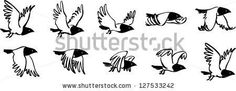 Find Flying Bird Sequence stock images in HD and millions of other royalty-free stock photos, illustrations and vectors in the Shutterstock collection. Bird Drawings, Cartoon Drawings, Animal Drawings, Cartoon Art, Theme Animation, Animation Reference, Fly Drawing, Black Bird Tattoo, Cartoon Birds
