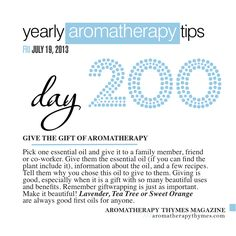 Give the gift of aromatherapy to a family member, friend or co-worker!