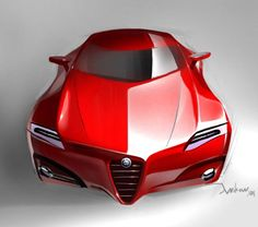 Car of the day on our page is: sports concept car, if you support this car hit… Alfa Romeo Cars, Vw Bus, Alpha Romeo, Car Design Sketch, Car Sketch, Futuristic Cars, Sweet Cars, Car Ford, Luxury Cars