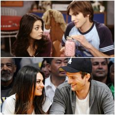 Then & now {Ashton and Mila}