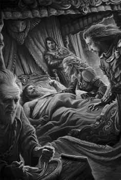 """The death of Robert Baratheon"" by Victor Manuel Leza Moreno"