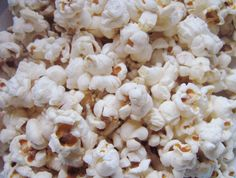 I count popcorn as my favorite snack food...made on the stovetop & seasoned with real butter, popcorn salt & sometimes parmesan, dill or pepper.