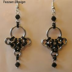 Japanese Earrings with swarovski crystals