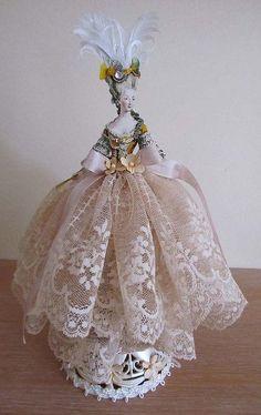 Vintage Ladies Half Dolls, Antique Ladies Half Dolls, Porcelain Half Dolls, Cake Topper Half Doll, German Flapper Half Doll, Antique Half Doll on Candy Box, ArtDeco Half Doll, Victorian Half Doll, Flapper Art Half Doll,