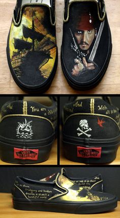 Pirates of the Caribean Shoes. I WANT THESE SHOES. Possibly more than my Calculus Toms.