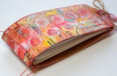 Innovative creativity from PaperArtsy. Paint, stencils, and techniques galore for any mixed media enthusiast to enjoy. Journal Covers, Book Journal, Art Journals, Bullet Journals, Kunstjournal Inspiration, Art Journal Inspiration, Handmade Journals, Handmade Books, Handmade Notebook