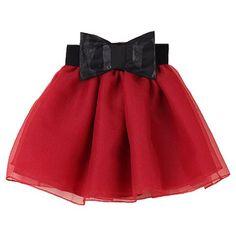 Cute Women's Bowknot Embellished Organza Skirt