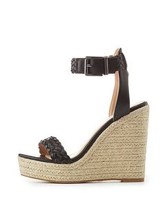 4deb589b9c5 Braided Two-Piece Espadrille Wedge Sandals