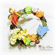 #springwreath #springdiy #springflowers #spring #bunny #iamrosesflowers #iamroses