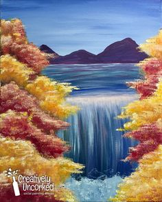 Fall Water Fall | Creatively Uncorked | Creatively Kids | http://creativelyuncorked.com