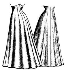 Patterns of Time 1906 Ten Gore Princess Skirt Pattern, Victorian-Edwardian-Titanic Skirt Patterns Sewing, Vintage Sewing Patterns, Skirt Sewing, Sewing Coat, Costume Patterns, Coat Patterns, Blouse Patterns, Clothes Patterns, Fabric Patterns