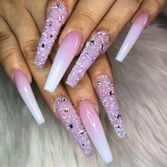 Nail art Christmas - the festive spirit on the nails. Over 70 creative ideas and tutorials - My Nails Aycrlic Nails, Glam Nails, Bling Nails, Cute Acrylic Nail Designs, Best Acrylic Nails, Perfect Nails, Gorgeous Nails, Nailart, Uñas Fashion