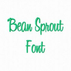 Bean Sprout Machine Embroidery Font Monogram Alphabet - 3 Sizes