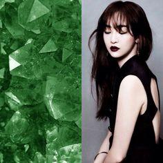 BirthStones&KPOP // Emeralds // Dasom of Sistar
