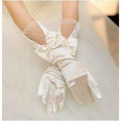 花嫁 結婚式 披露宴 二次会 手作リ ウェディングドレス プリンセスドレス 素敵 手袋 グローブ glove 飾り物    ブライダル用