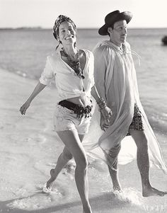 Something very refreshing and expressing freedom in Lucie de la Falaise style w/ Marlon Richards