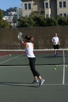 Tennis Lesson with Play Your Court // Fitness & the City
