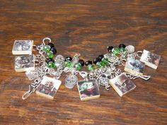 "Hand Crafted Zombie Apocalypse Loaded Charm Bracelet Walking Dead Romero #2 in Series Spells ""ZOMBIES"" by MelancholyMind on Etsy"
