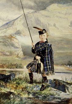 Portrait of Master Hugh Allan, in the hills of Scotland.  1876 by William Notman (1826-1891)