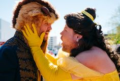 James Corden was the Belle of the ball crosswalk on Wednesday, recreating Beauty and the Beast outside his Late Late Show studio with the help of stars Dan Stevens, Josh Gad and Luke Evans. With Em…