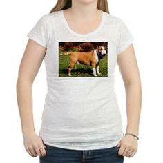 bull terrier 2 full Womens Burnout Tee > Bull Terrier > Paw Prints